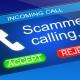 phone receiving a scam call
